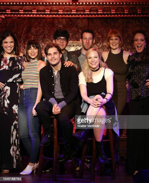 Lindsay Mendez Krysta Rodriguez Andy Mientus George Salazar Nick Blaemire Lauren Marcus Kate Baldwin and Melissa Errico attend the Feinstein's/54...