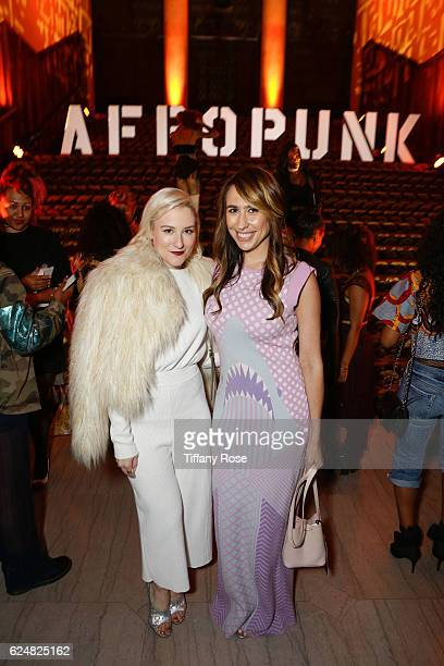 Lindsay Miller and Ida Kay of Red Bull Media House attends the AFROPUNK Fancy Dress Ball during the Red Bull Sound Select 30 Days in LA at The...
