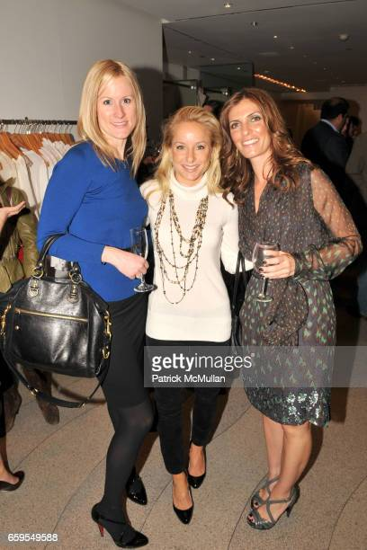 Lindsay Naze Amy Beresin and Tanya Becker attend PHYSIQUE 57 DVD Launch Party at Calypso St Barth Flagship Store on October 14 2009 in New York City