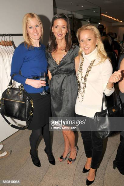 Lindsay Naze Jennifer Maanavi and Amy Beresin attend PHYSIQUE 57 DVD Launch Party at Calypso St Barth Flagship Store on October 14 2009 in New York...