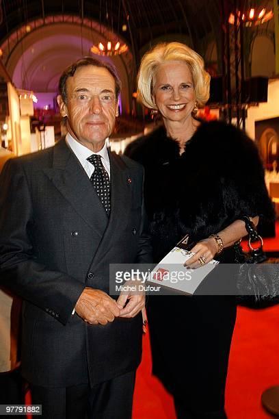 Lindsay OwenJones and Beatrice Dautresme of L'Oreal attend the Association 'Dessine l'Espoir' Charity Dinner during Art Paris Exhibition Launch at...