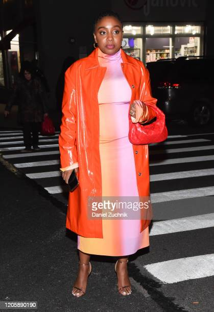 Lindsay Peoples Wagner is seen wearing a Marc Jacobs outfit outside the Marc Jacobs show during New York Fashion Week A/W20 on February 12 2020 in...
