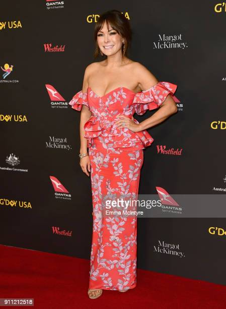 Lindsay Price attends 2018 G'Day USA Los Angeles Black Tie Gala at InterContinental Los Angeles Downtown on January 27 2018 in Los Angeles California