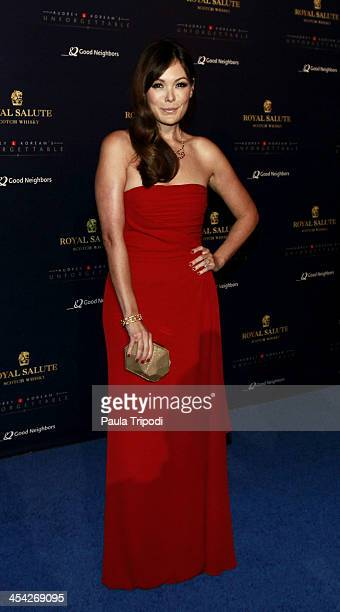 Lindsay Price attends the 12th Annual Unforgettable Gala at Park Plaza on December 7 2013 in Los Angeles California