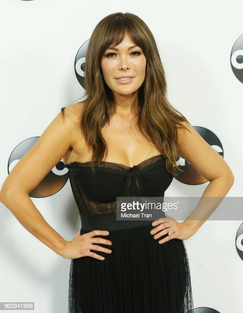 Lindsay Price attends the Disney ABC Television Group hosts TCA Winter Press Tour 2018 held at The Langham Huntington on January 8 2018 in Pasadena...