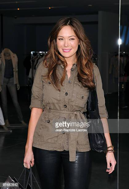 Lindsay Price shops at Armani at on March 5 2010 in Los Angeles California