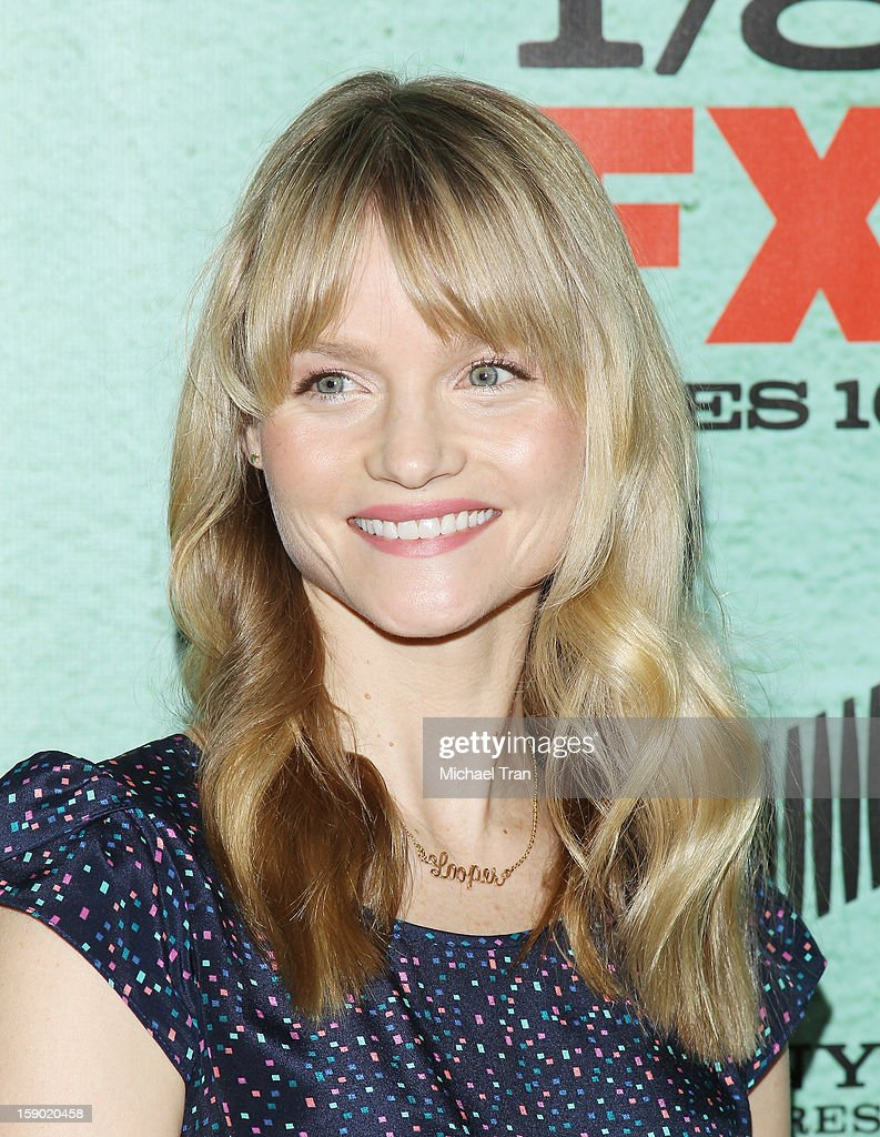 Lindsay Pulsipher arrives at season 4 premiere of FX's 'Justified' held at Paramount Theater on the Paramount Studios lot on January 5, 2013 in Hollywood, California.