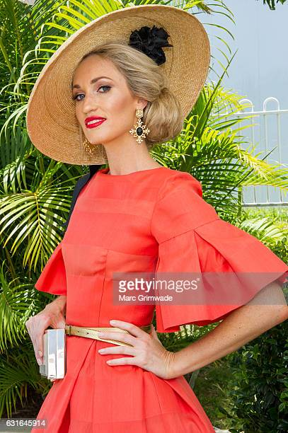 Lindsay Ridings attends Magic Millions Raceday on January 14 2017 in Gold Coast Australia