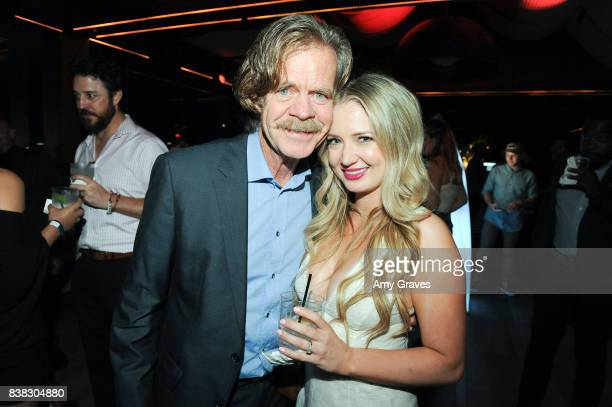Lindsay Selles and William H Macy attend The Layover film premiere afterparty hosted by DIRECTV at The Highlight Dream Hollywood with Foster Grant...