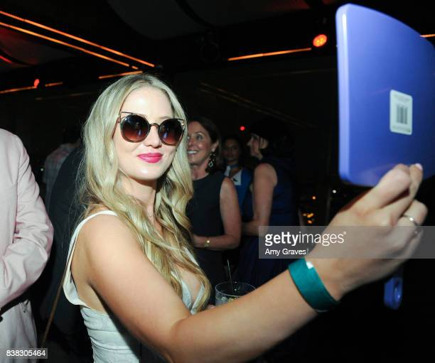 Lindsay Selles attends The Layover film premiere afterparty hosted by DIRECTV at The Highlight Dream Hollywood with Foster Grant and SVEDKA on August...