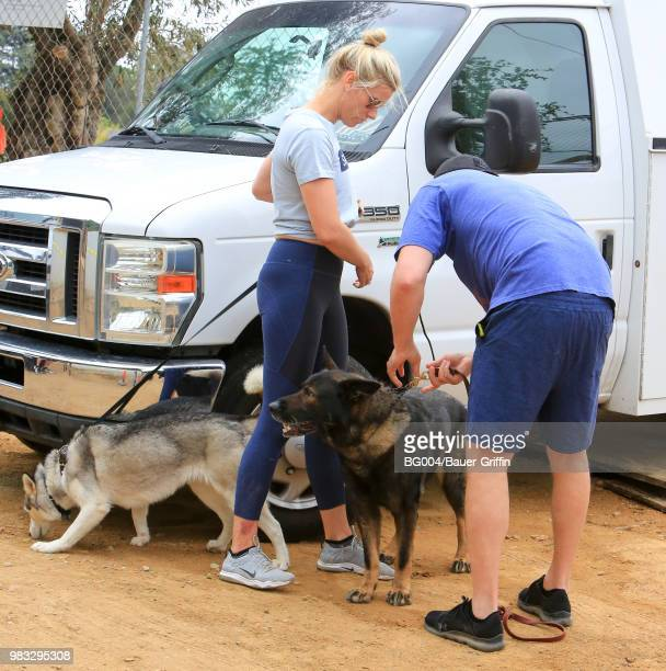 Lindsay Shookus and Ben Affleck are seen on June 24 2018 in Los Angeles California