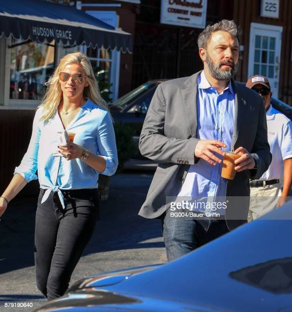 Lindsay Shookus and Ben Affleck are seen on November 25 2017 in Los Angeles California