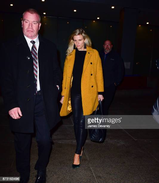 Lindsay Shookus leaves SNL's afterparty at Mastro's Steakhouse on November 11 2017 in New York City