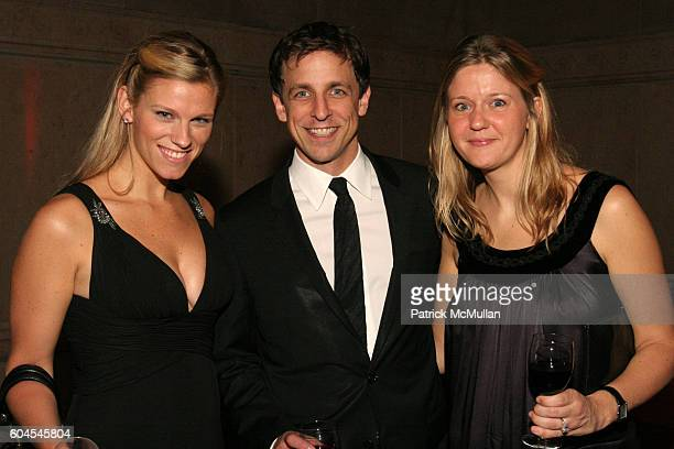 Lindsay Shookus Seth Meyers and Erin David attend The Museum Gala at American Museum of Natural History on November 16 2006 in New York City
