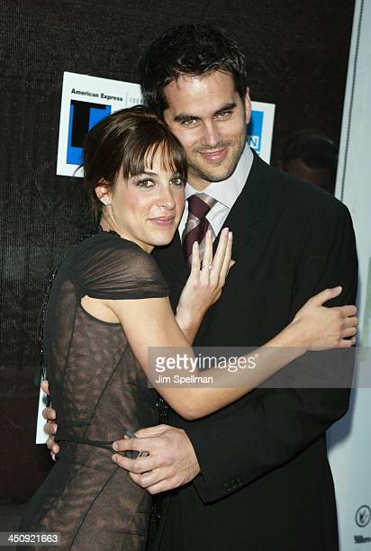 Lindsay Sloane and Fiance Dar Rollins during 2003 Tribeca Film Festival Premiere of The InLaws at Tribeca Performing Arts Center in New York City New...