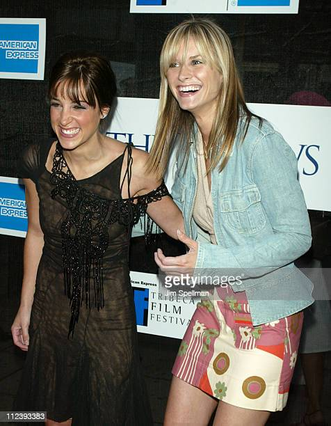 Lindsay Sloane and friend Bonnie Somerville during 2003 Tribeca Film Festival Premiere of 'The InLaws' at Tribeca Performing Arts Center in New York...