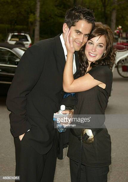 Lindsay Sloane and husband Dar Rollins during 20032004 CBS Upfront After Party at Tavern on the Green in New York City New York United States