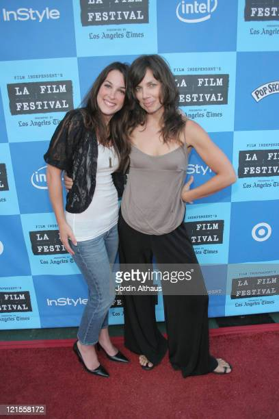 Lindsay Sloane and Justine Bateman during 2006 Los Angeles Film Festival The TV Set Screening at The Majestic Crest Theatre in Westwood California...