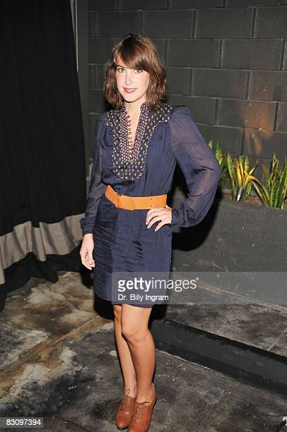 Lindsay Sloane arrives at a Party for Tommy Hilfiger's Bravo TV Special hosted by InStyle at the Thompson Hotel on October 2 2008 in Beverly Hills...