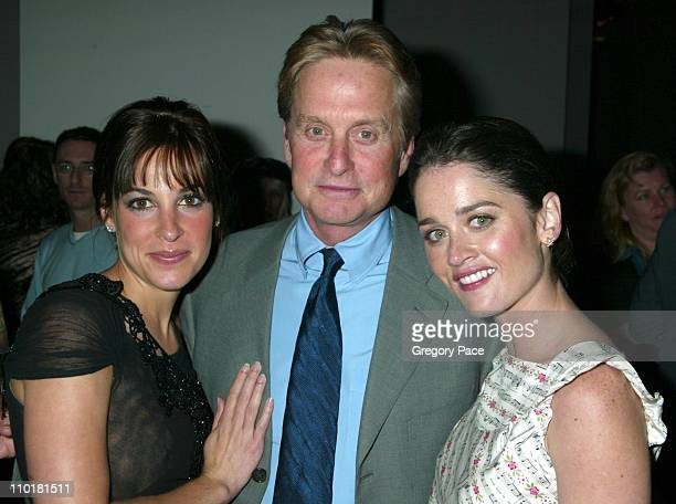 Lindsay Sloane Michael Douglas and Robin Tunney during 2003 Tribeca Film Festival After Party for the 'The In Laws' Premiere at Tribute 24 Broadway...