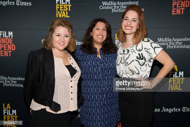 Lindsay Stidham Laura Menino and Angela Gulner attend the 2018 LA Film Festival 'Welcome to the Clambake' at Wallis Annenberg Center for the...