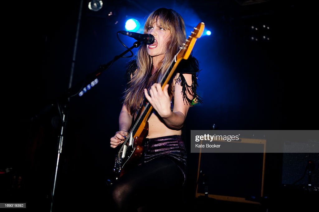 Lindsay Troy of Deap Vally performs on stage at Scala on May 22, 2013 in London, England.