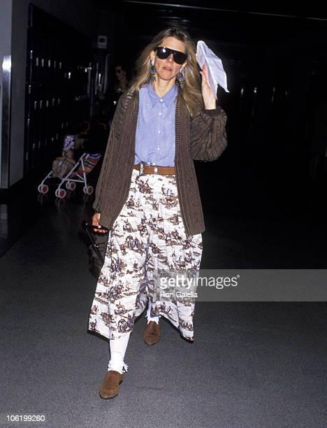 Lindsay Wagner during Lindsay Wagner Sighting at LAX November 6 1992 at Los Angeles International Airport in Los Angeles California United States