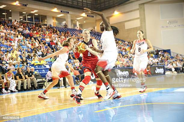 Lindsay Whalen drives to the basket during the Women's Senior US National Team Red vs White game on September 11 2014 in Newark DE NOTE TO USER User...