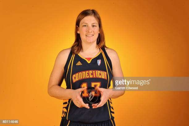 Lindsay Whalen of the Connecticut Sun poses for a portrait prior to Game Two of the WNBA Finals on October 3 2008 at ATT Center in San Antonio Texas...
