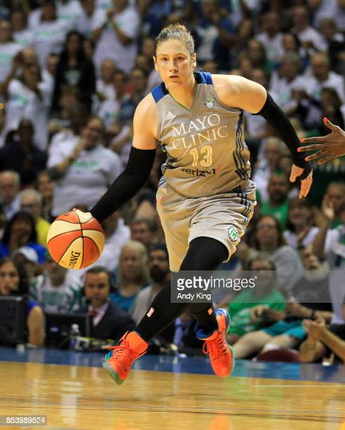Lindsay Whalen of the Minnesota Lynx drives against the Los Angeles Sparks during the fourth quarter of Game One of the WNBA finals at Williams Arena...