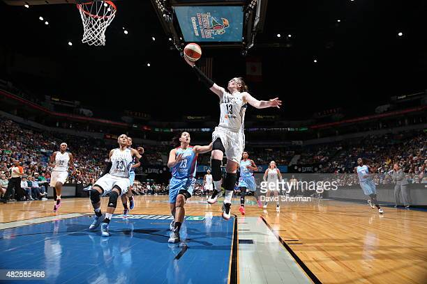 Lindsay Whalen of the Minnesota Lynx goes to the basket against the Atlanta Dream on July 31 2015 at Target Center in Minneapolis Minnesota NOTE TO...