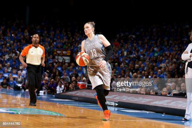 Lindsay Whalen of the Minnesota Lynx handles the ball during the game against the Los Angeles Sparks in Game Two of the 2017 WNBA Finals on September...