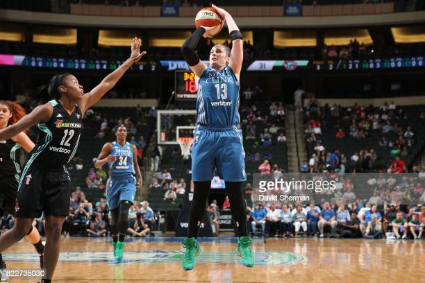 Lindsay Whalen of the Minnesota Lynx shoots the ball against the New York Liberty on July 25 2017 at Target Center in Minneapolis Minnesota NOTE TO...
