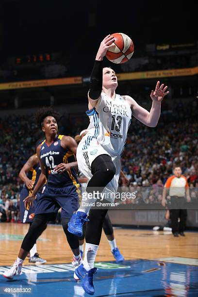 Lindsay Whalen of the Minnesota Lynx shoots the ball against the Indiana Fever during Game Two of the 2015 WNBA Finals on October 6 2015 at Target...
