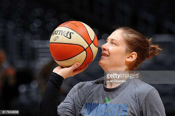 Lindsay Whalen of the Minnesota Lynx shoots the ball during practice on October 15 2016 at Staples Center in Los Angeles California NOTE TO USER User...