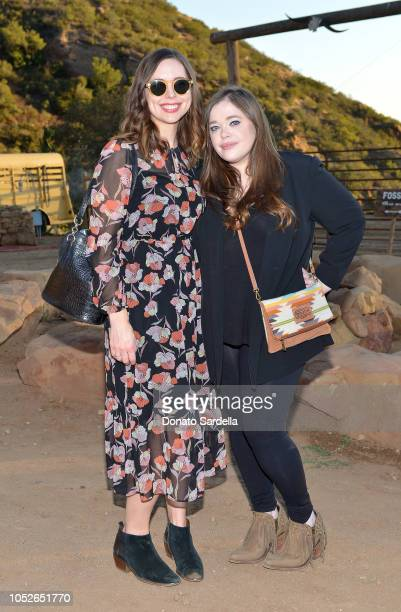 Lindsey Bahr and Amy Kaufman attend the Mandy Moore x Fossil private dinner at One Gun Ranch on October 20 2018 in Malibu California