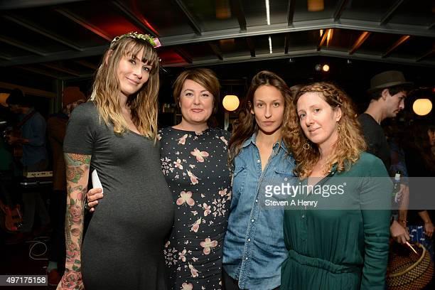 Lindsey Bliss Sera Bonds Domino Kirk and Samantha Huggins attend the Circle of Health International Fundraiser at McCarren Park on November 14 2015...