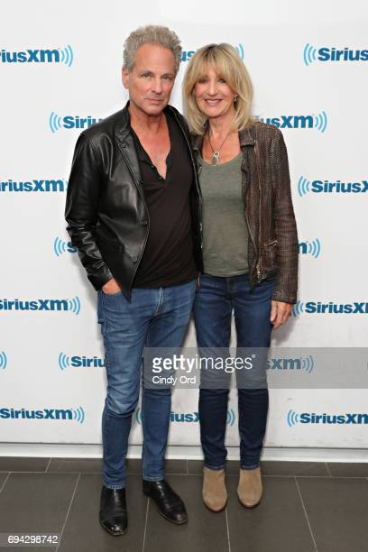 Lindsey Buckingham and Christine McVie visit the SiriusXM Studio on June 9 2017 in New York City