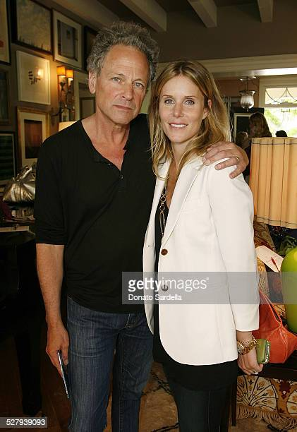 Lindsey Buckingham and Kristen Buckingham attend PS Arts Presents The Bag Lunch on May 7 2010 in Los Angeles California