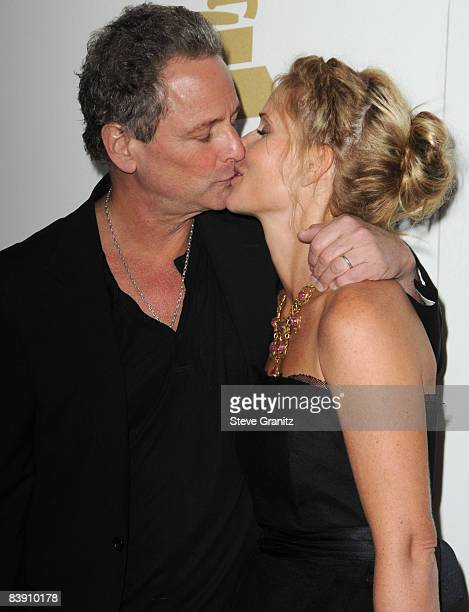 Lindsey Buckingham and wife Kristen Buckingham arrive at the Grammy Nomination Concert Live at the Nokia Theatre on December 3 2008 in Los Angeles...