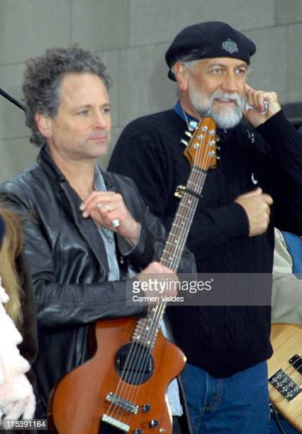 Lindsey Buckingham of Fleetwood Mac during Fleetwood Mac Performs on 'The Today Show' Toyota Concert Series April 17 2002 at NBC Studios Rockefeller...