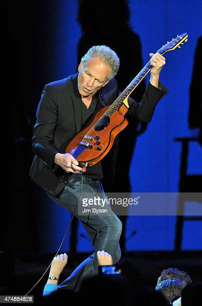 Lindsey Buckingham of Fleetwood Mac performs live on stage at The O2 Arena on May 27 2015 in London United Kingdom