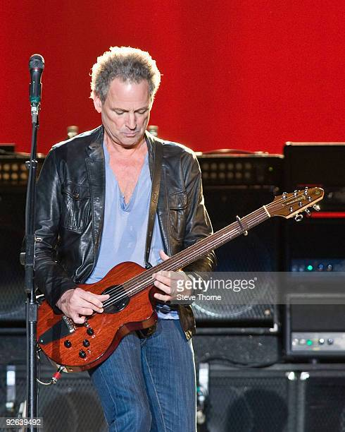 Lindsey Buckingham of Fleetwood Mac performs on stage at NIA Arena on November 3 2009 in Birmingham England