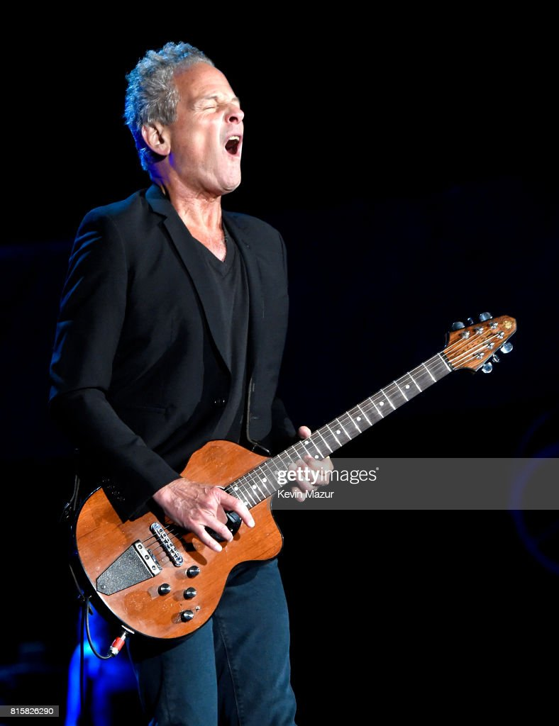 Lindsey Buckingham of Fleetwood Mac performs onstage during The Classic West at Dodger Stadium on July 16, 2017 in Los Angeles, California.