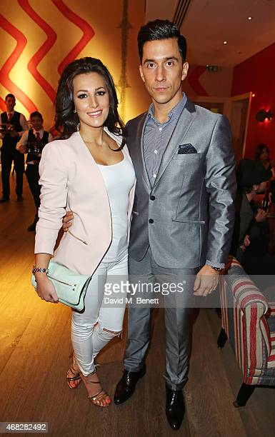 Lindsey Cole and Russell Kane attend a private screening of Age Of Kill at The Ham Yard Hotel on April 1 2015 in London England