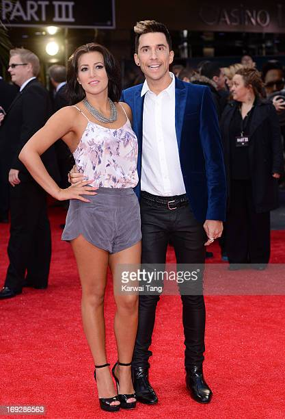 Lindsey Cole and Russell Kane attend The Hangover III UK film premiere at The Empire Cinema on May 22 2013 in London England