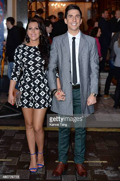 Lindsey Cole and Russell Kane attend the press night of I Can't Sing The X Factor Musical at London Palladium on March 26 2014 in London England