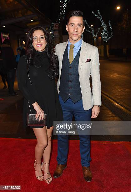Lindsey Cole and Russell Kane attend the VIP night for the Northern Ballets rendition of 'The Great Gatsby' at Sadlers Wells Theatre on March 24 2015...