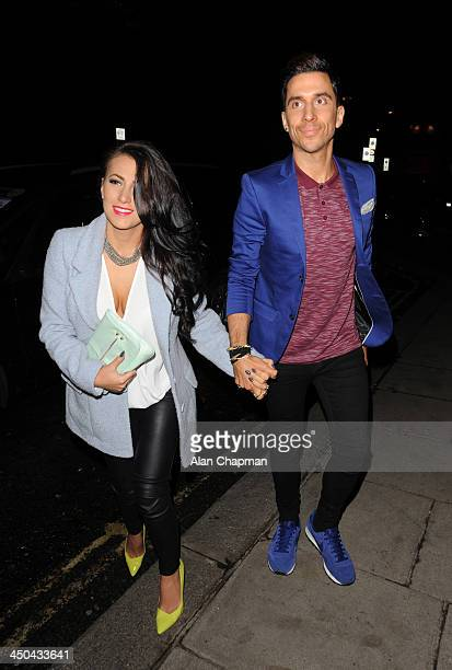 Lindsey Cole and Russell Kane sighting on November 18 2013 in London England