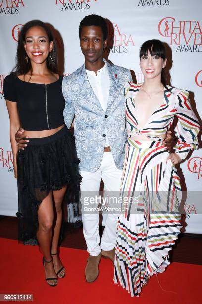 Lindsey Croop Calvin Royal III and Georgina Pazcoguin during the The 2nd Annual Chita Rivera Awards Honoring Carmen De Lavallade John Kander And...
